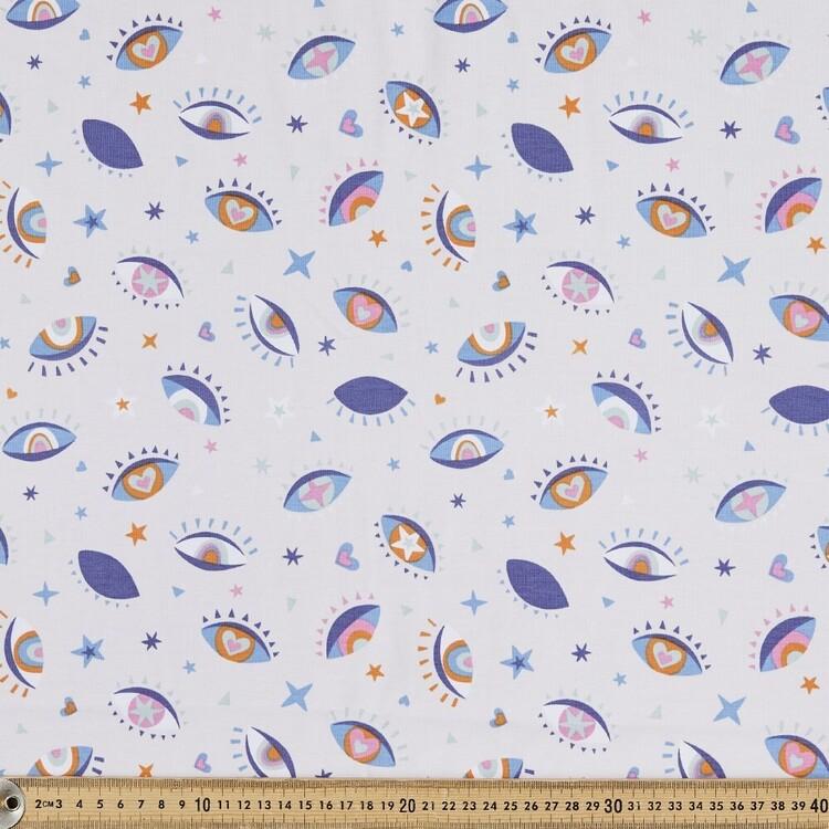 Eye Bright Printed 148 cm Cotton Spandex Fabric