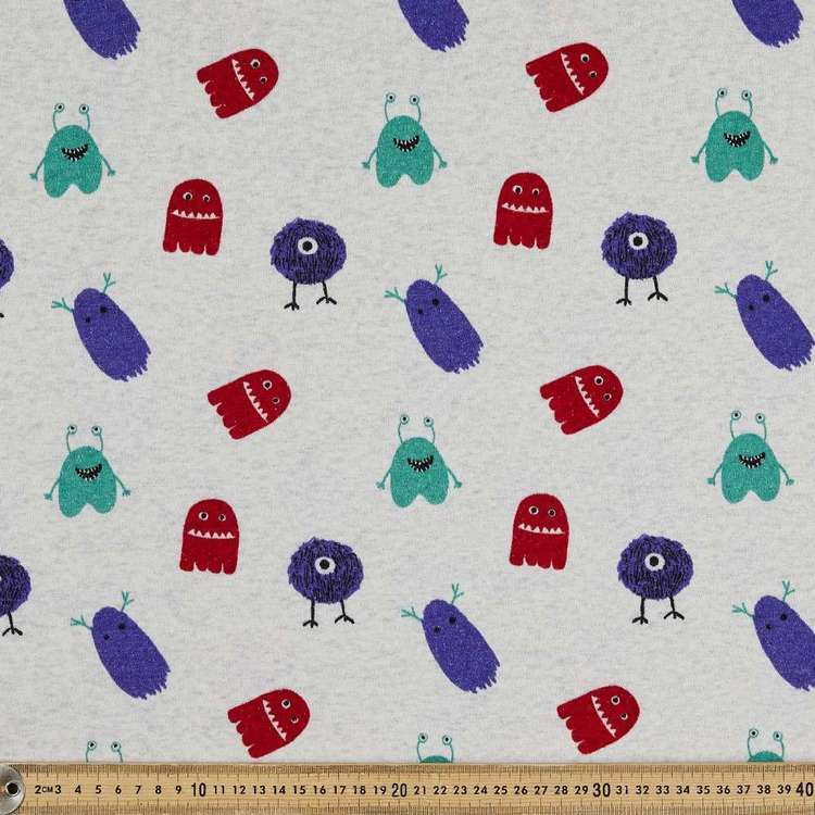 Monsters Printed 145 cm Sports Active Fleece Fabric