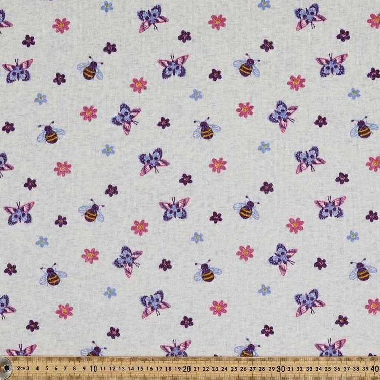 Garden Printed 145 cm Sports Active Fleece Fabric