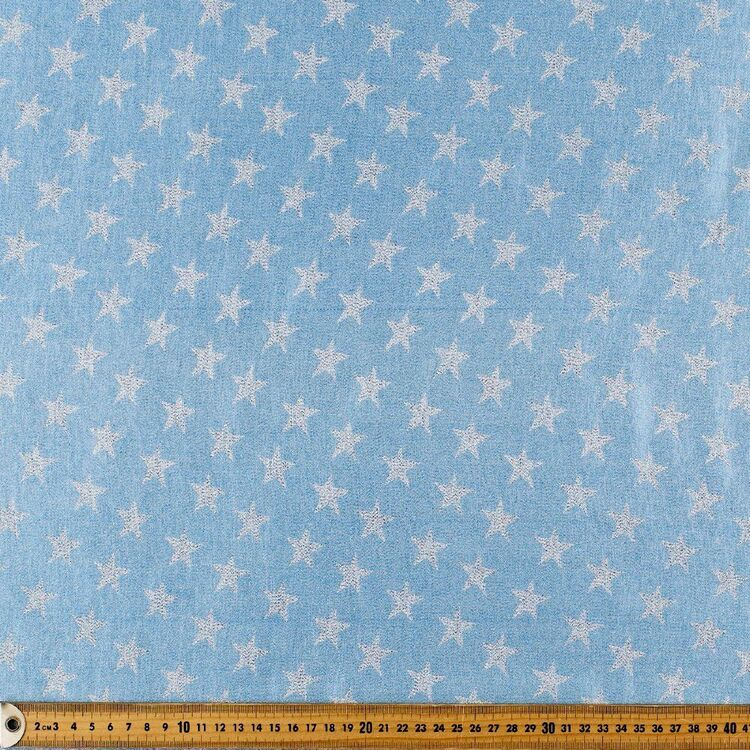Party Play Star Printed 110 cm Poly Lurex Lame Fabric