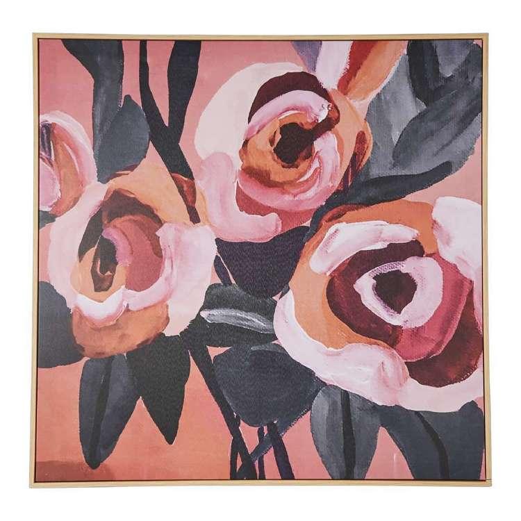 Kirsten Katz Peach Roses Framed Print