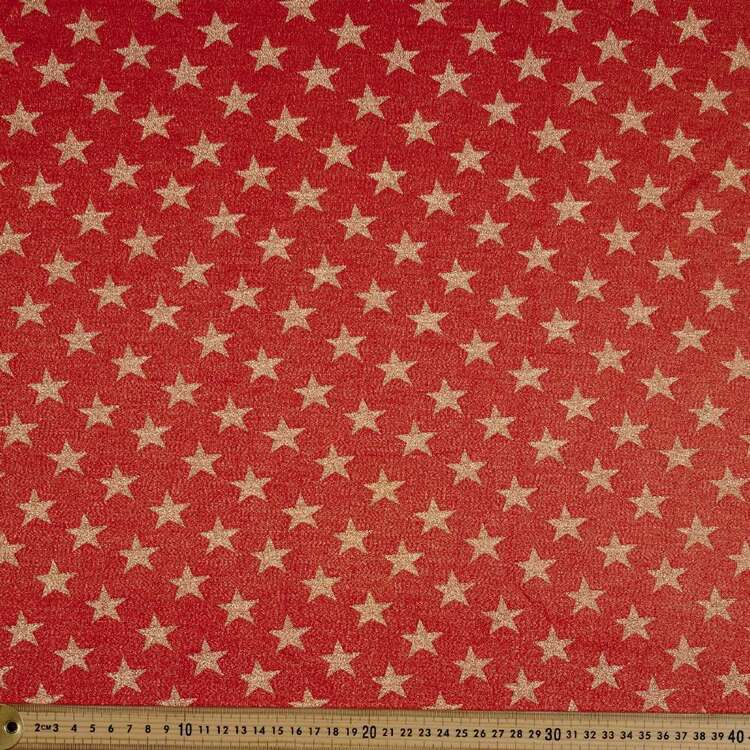Party Play Star Printed Poly Lurex Lame Fabric