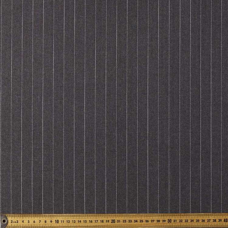 Pinstripe Hi Twist 145 cm Suiting Fabric