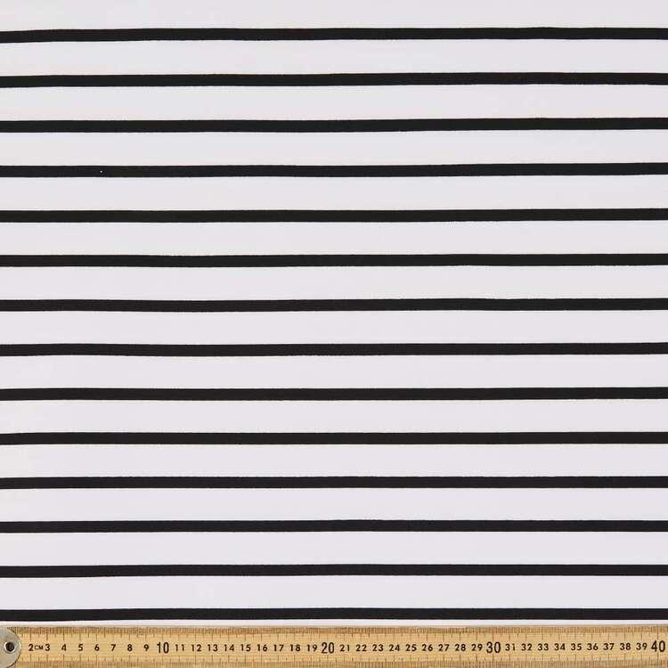ITY Stripe Interlock Jersey 147 cm Fabric