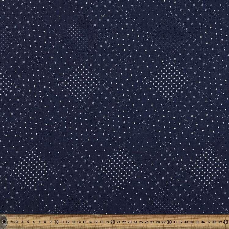 Patch Printed 142 cm Denim Fabric