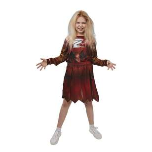 Spartys Zombie Cheerleader Kids Costume