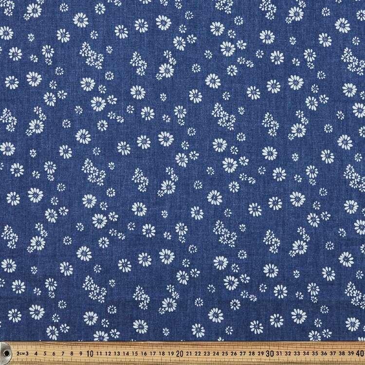 Cute As A Daisy Printed Denim Fabric
