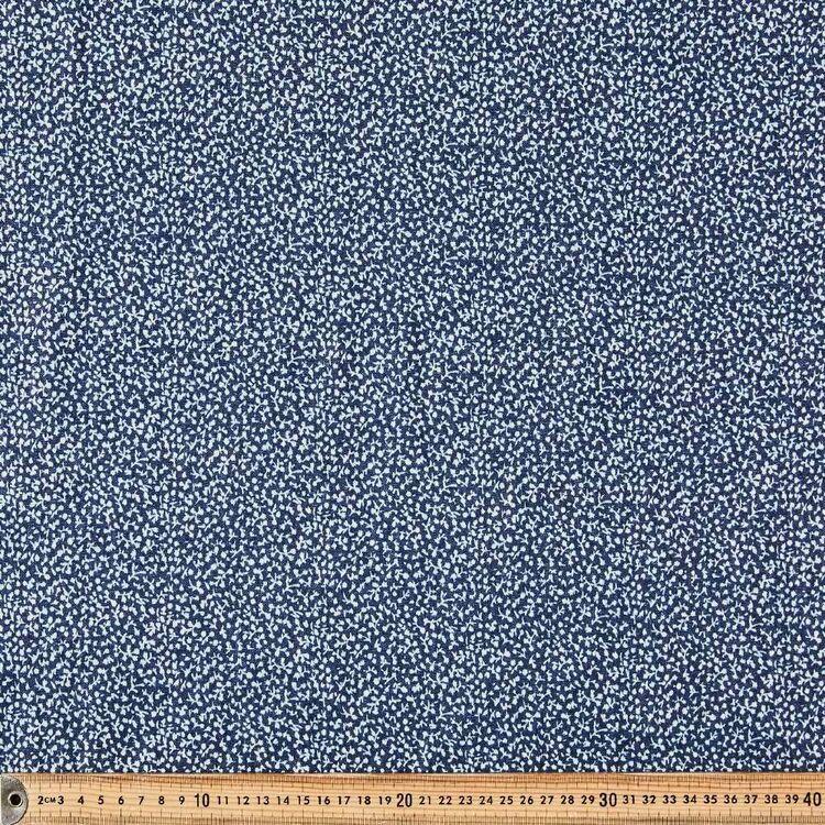Scattered Printed 142 cm Denim Fabric