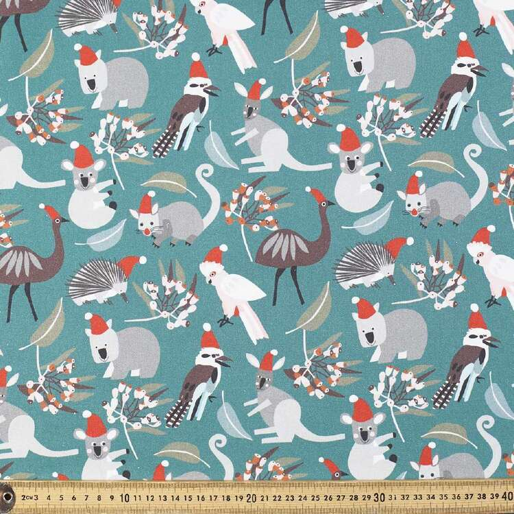 Jocelyn Proust All The Animals Emu Christmas Fabric