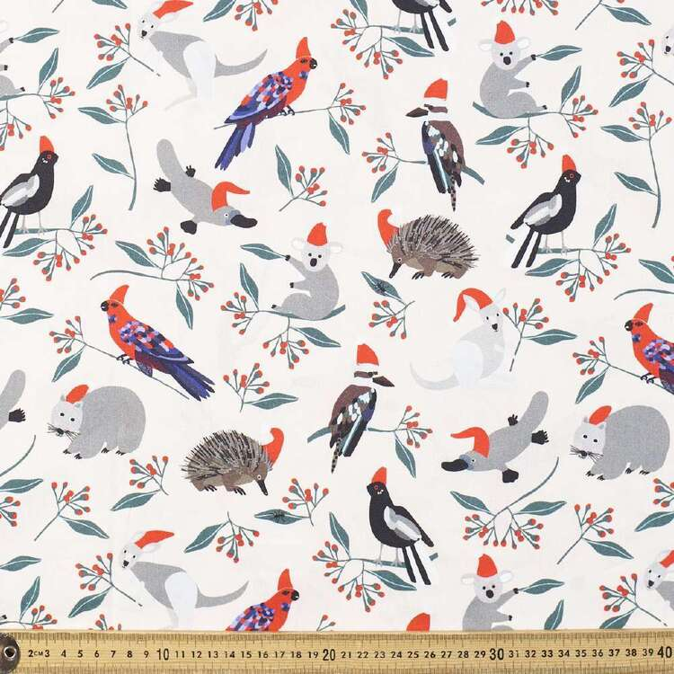 Jocelyn Proust All The Animals Christmas Fabric