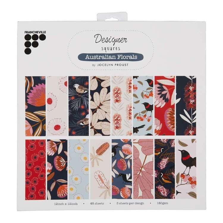 Francheville Jocelyn Proust Australian Florals Paper Pad 12 x 12 in