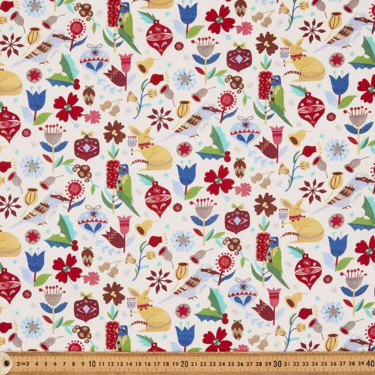 Andrea Smith White Christmas Collection Fabric