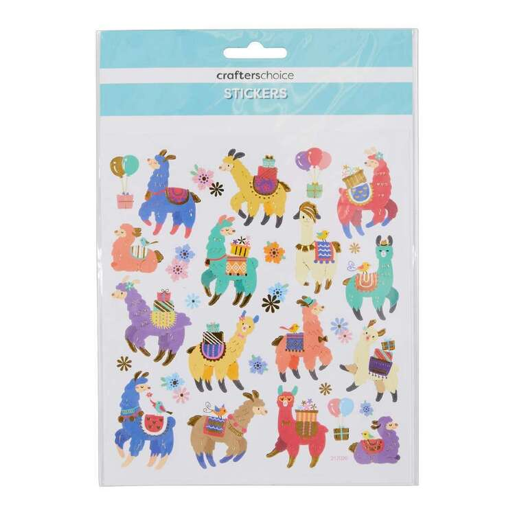 Crafters Choice Party Lama Sticker