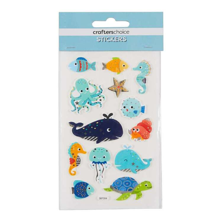 Crafters Choice Foil Foam Marine Animals Sticker
