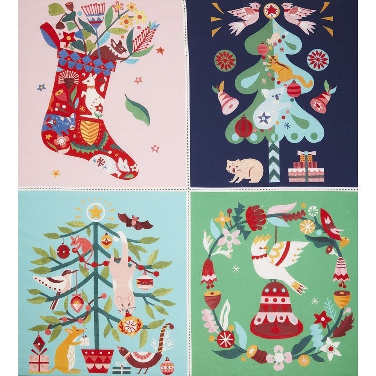 Andrea Smith Christmas Collection Bunting Panel
