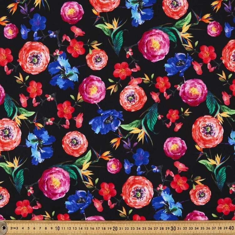 Burbon Printed 148 cm Manhattan Scuba Crepe Fabric