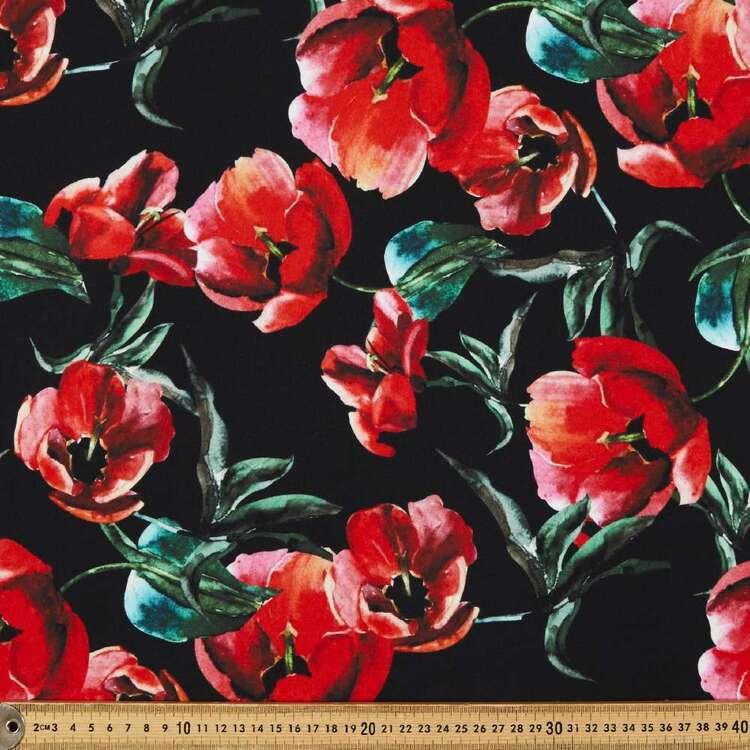 Tulip Printed 148 cm Manhattan Scuba Crepe Fabric