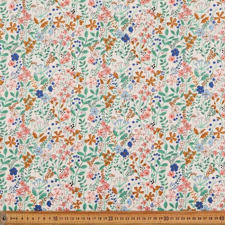 Cloud 9 Natural Beauty Wild Flowers Cotton Fabric
