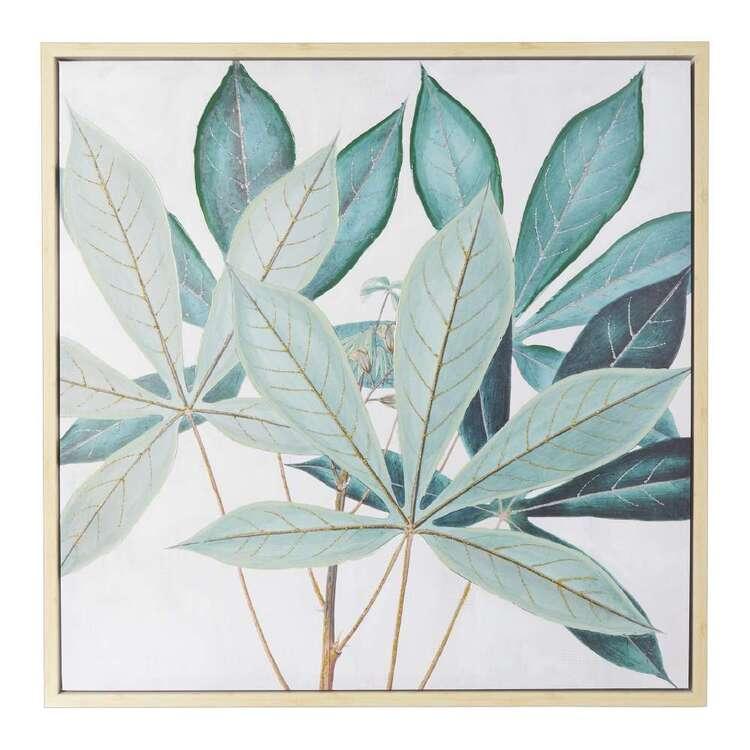 Emporium Leaves Framed Canvas Print