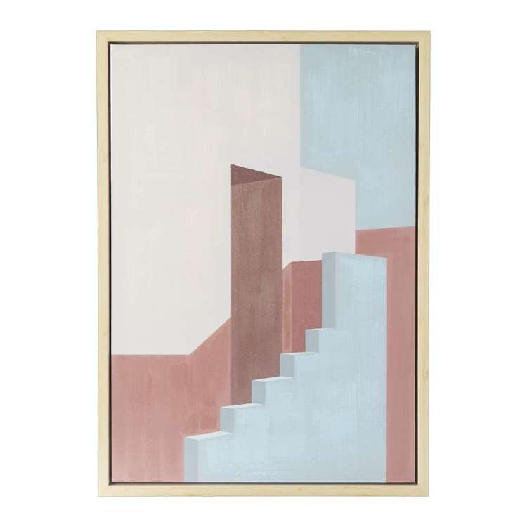 Emporium Stairs Framed Canvas Print