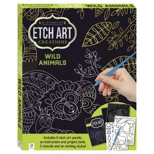 Kaleidoscope Wild Animals Mini Etch Art Kit