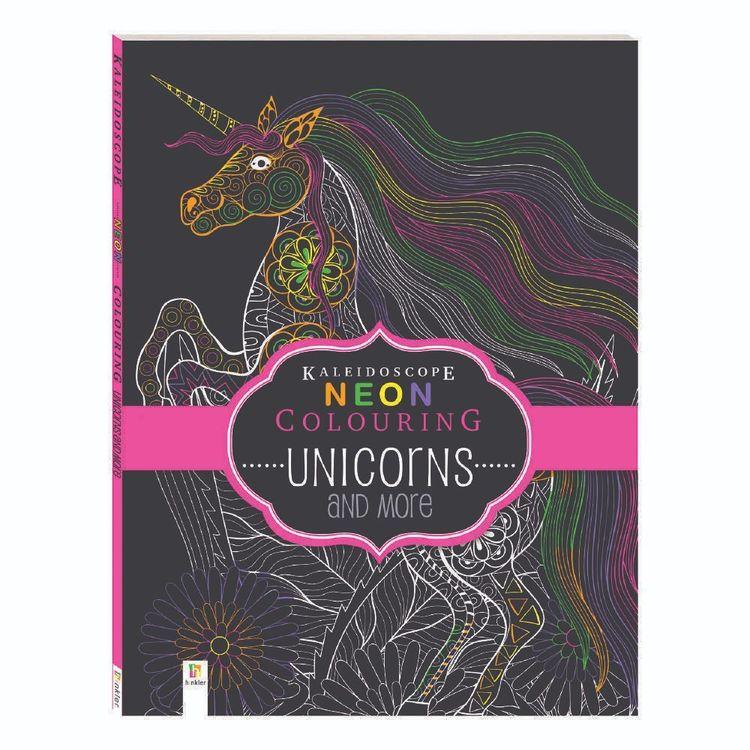 Kaleidoscope Neon Colouring Book