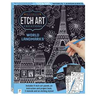 Kaleidoscope World Landmarks Mini Etch Art Kit