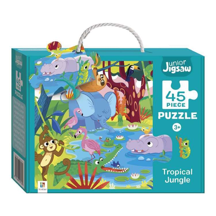 Hinkler Junior Jigsaw Series 3 Tropical Jungle Puzzle Multicoloured