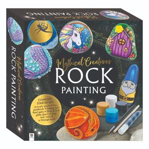 Hinkler Mythical Creatures Rock Painting Set