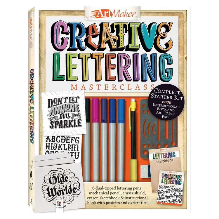 Hinkler Art Marker Creative Lettering Kit