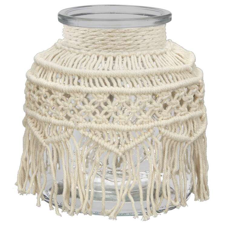 Bouclair Casbah Led Macrame Jar