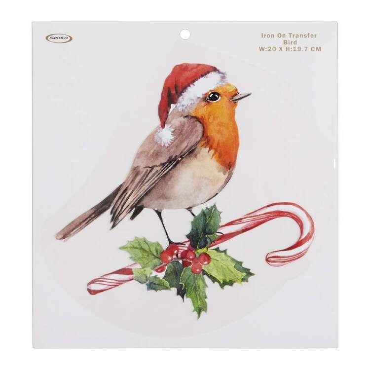 Christmas Bird Iron On Transfer