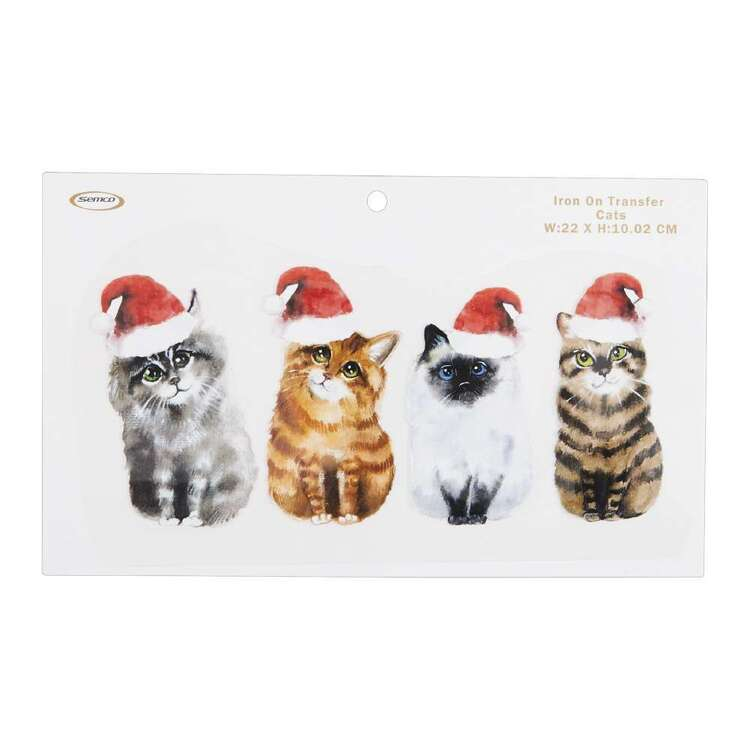 Christmas Cats Iron On Transfer