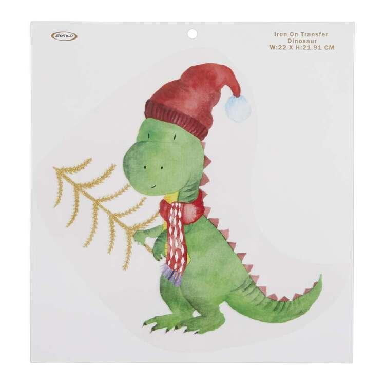 Christmas Dinosaur Iron On Transfer