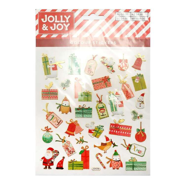 Jolly & Joy Christmas Tags & Present Stickers