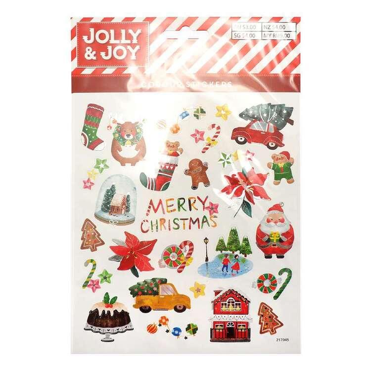 Jolly & Joy Christmas Holiday Stickers