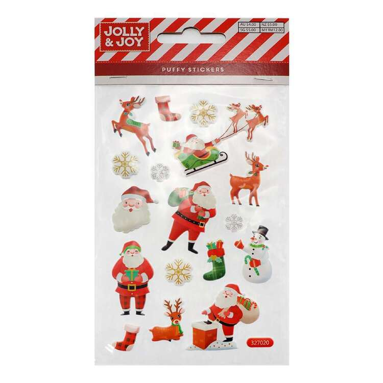 Jolly & Joy Santa Puffy Stickers