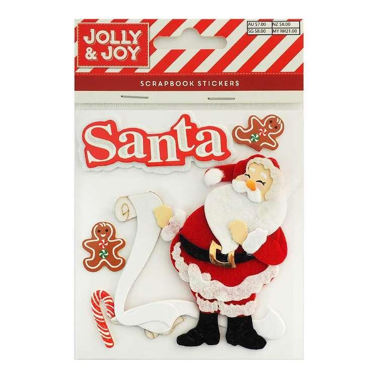 Jolly & Joy Santa's List Scrapbook Stickers