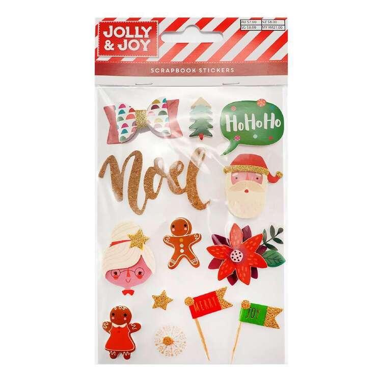 Jolly & Joy Noel Scrapbook Stickers