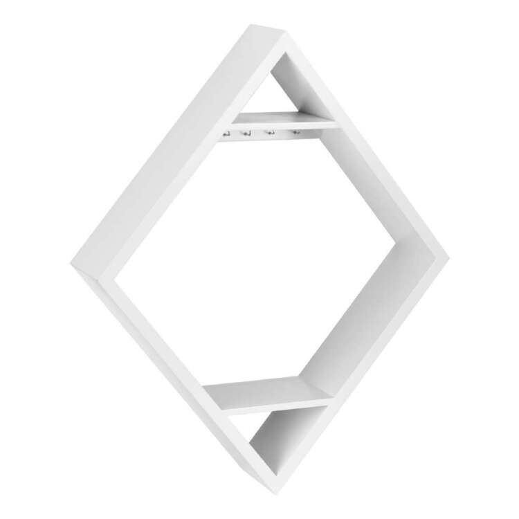 Bouclair Casbah Diamond Shelf White