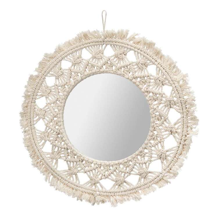 Bouclair Casbah Macrame Mirror Natural