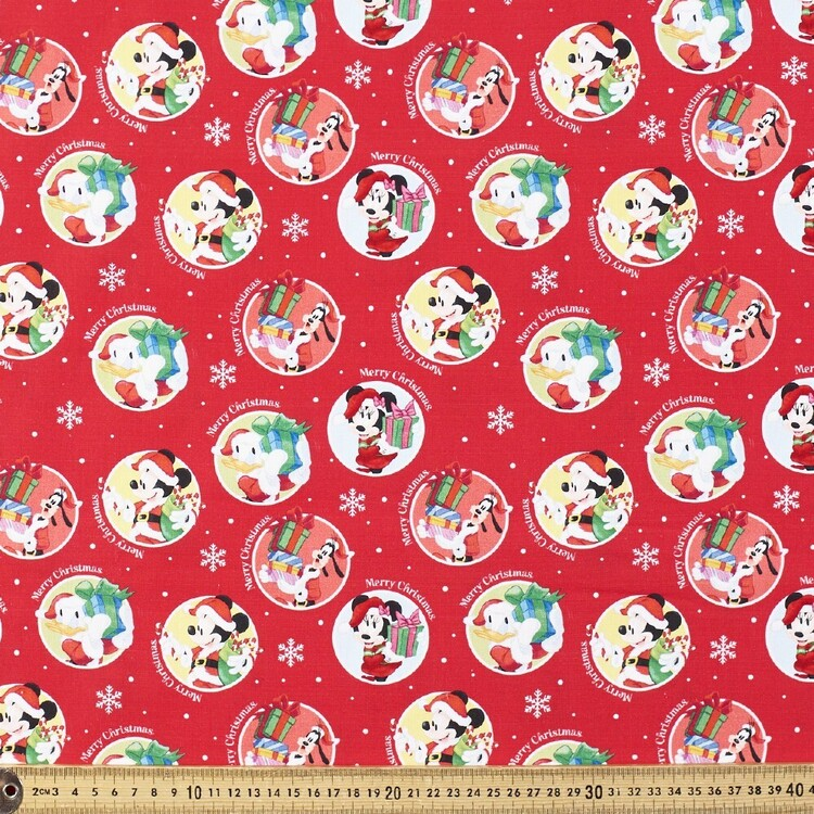 Disney Mickey Presents Cotton Fabric