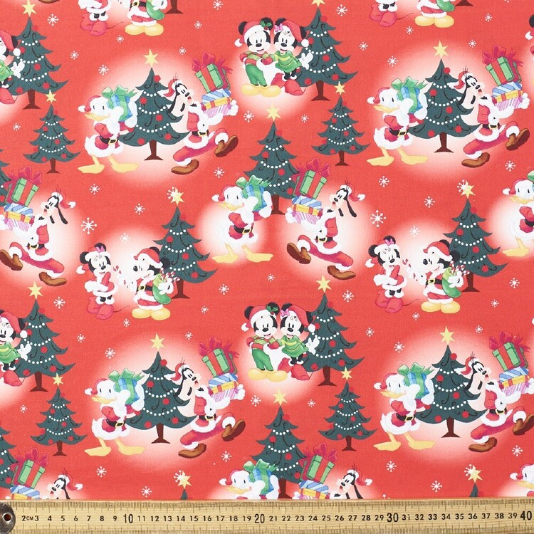 Disney Mickey & Minnie Christmas Cheer Cotton Fabric