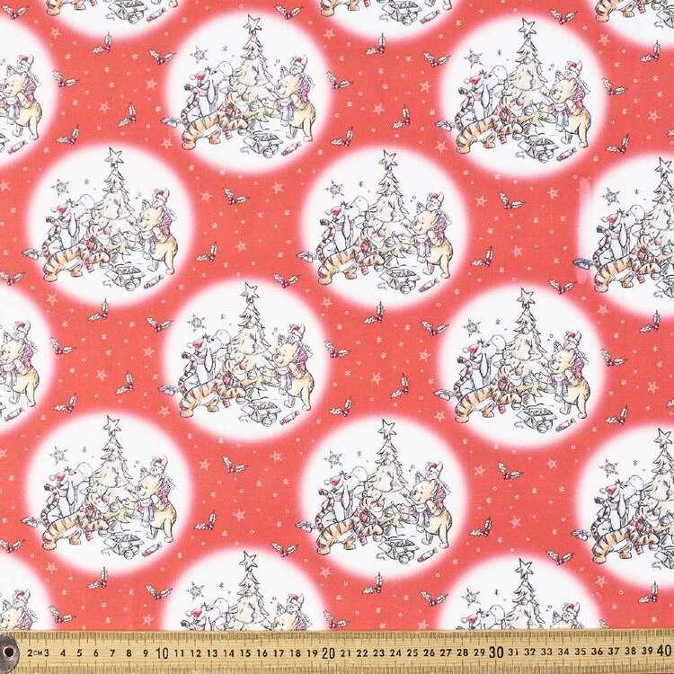 Disney Winnie The Pooh Christmas Cotton Fabric