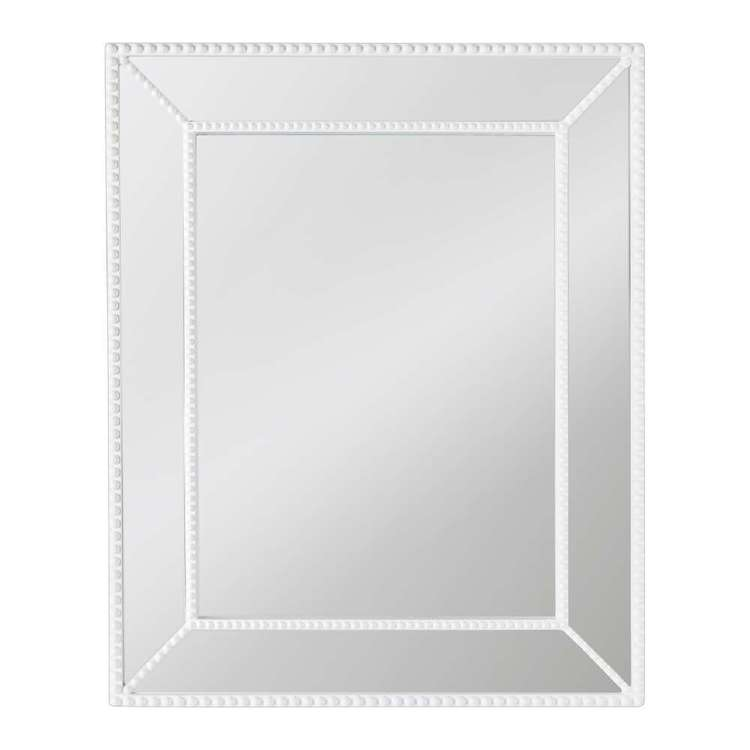 Cooper & Co Beaded Wall Mirror White 42 x 52 cm