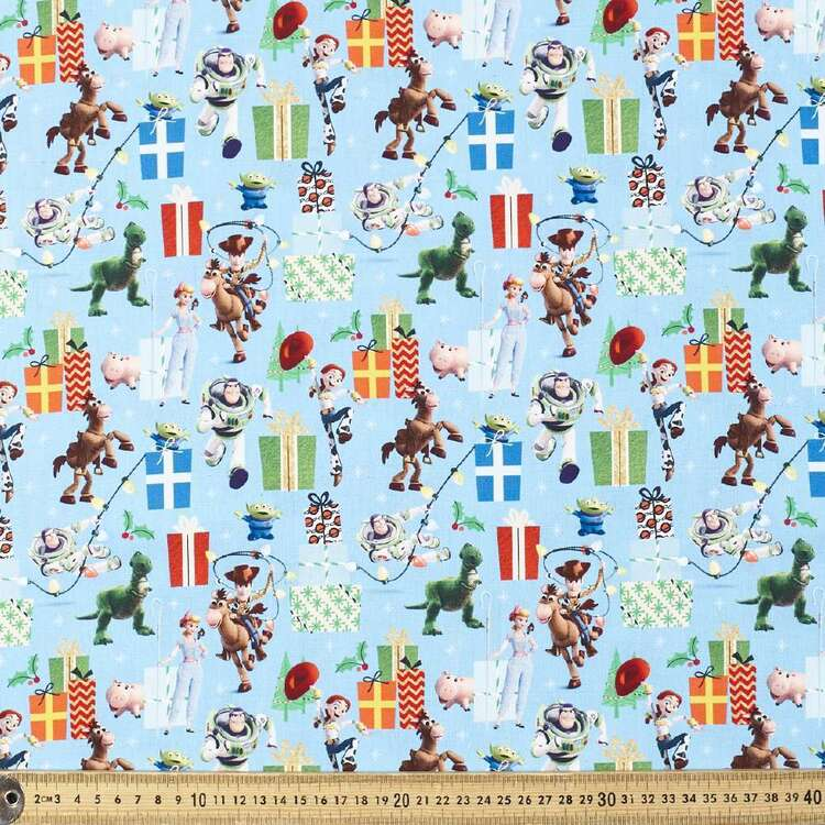 Disney Toy Story Digital Christmas Cotton Fabric
