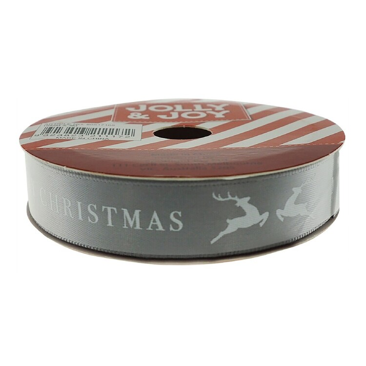 Jolly & Joy 16 mm Merry Christmas Satin Ribbon