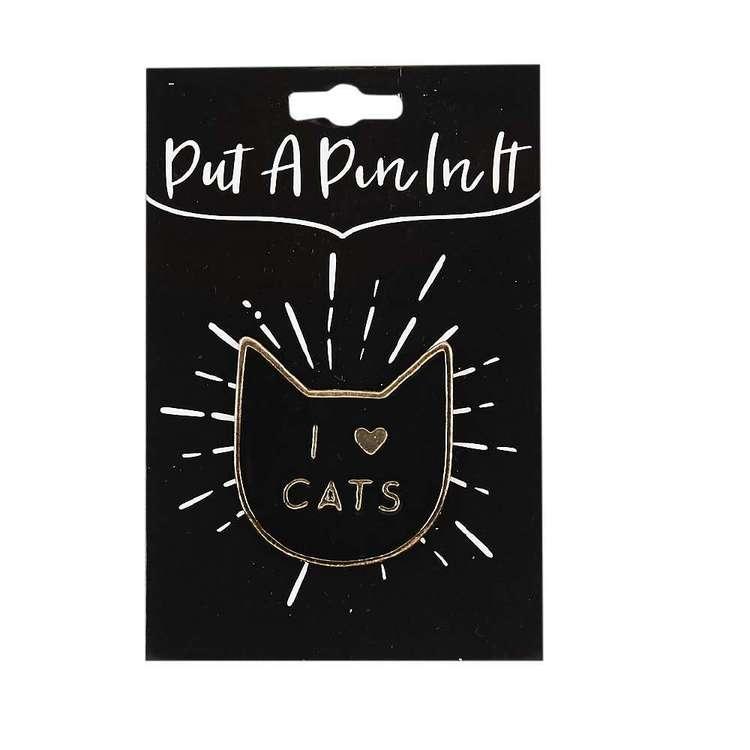 I Love Cats Enamel Pin