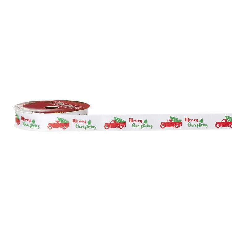Truck Traditional Christmas Ribbon