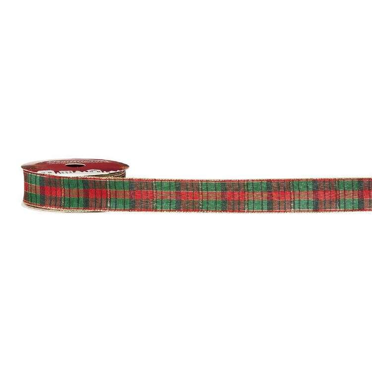 Gingham Traditional Christmas Ribbon # 2